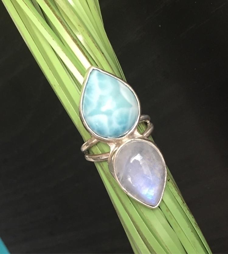 Moonstone Larimar Ring - larimar - bellabychrista | ello