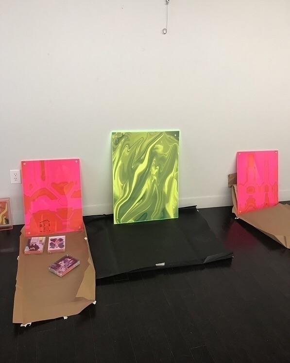 Perle scenes work hung exhibit  - bitfactory | ello
