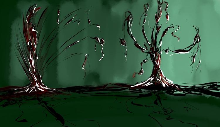 Venomous plant abstracts - Black_Ink - whiteb34 | ello