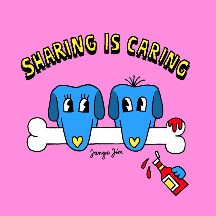 SHARING CARING. talking farts - dog - jangojim | ello