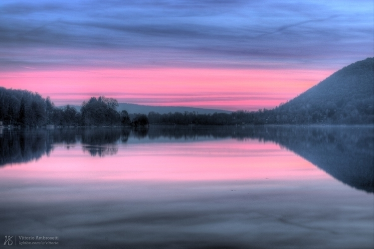 Sunset Lake Monate - photography - azonic | ello