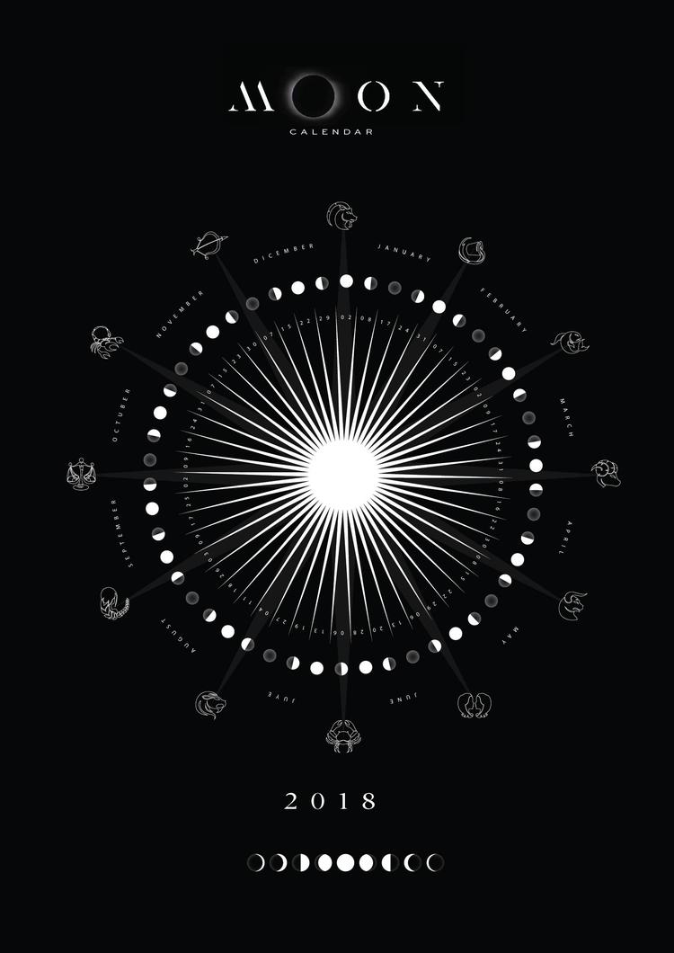 moon, calendar, 2018 - karma86 | ello
