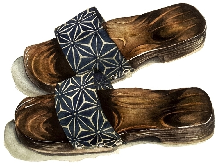 Wooden slippers collection - illustration - tommytwomillion | ello