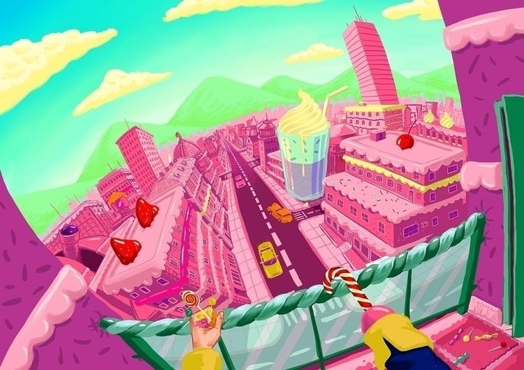 sugar rush - illustration, candy - ofgiorge | ello