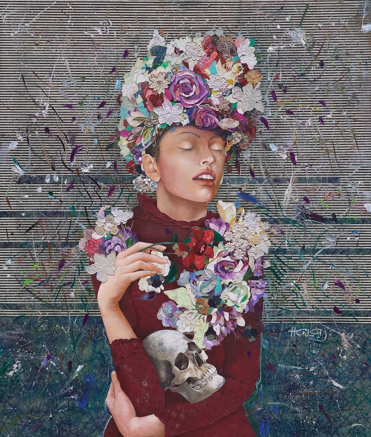 Floral Mind 29 2017, Oil, wax,  - minashalaj | ello
