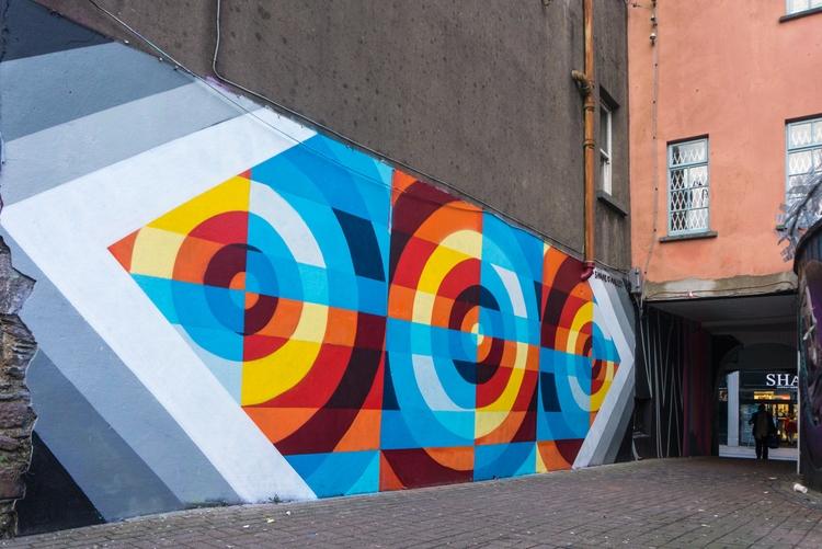 blog post background mural Wate - shaneomalleyart | ello