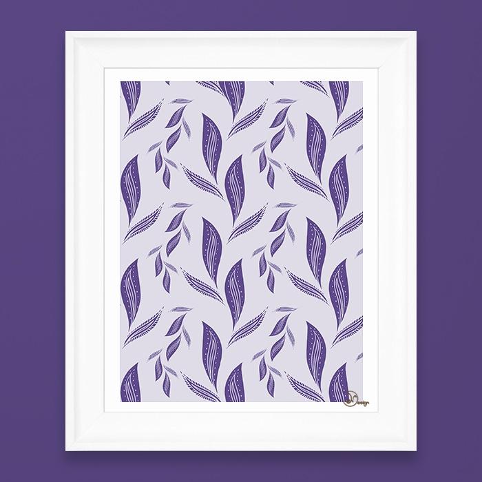 Ultraviolet Foliage Delicate, u - designdn | ello