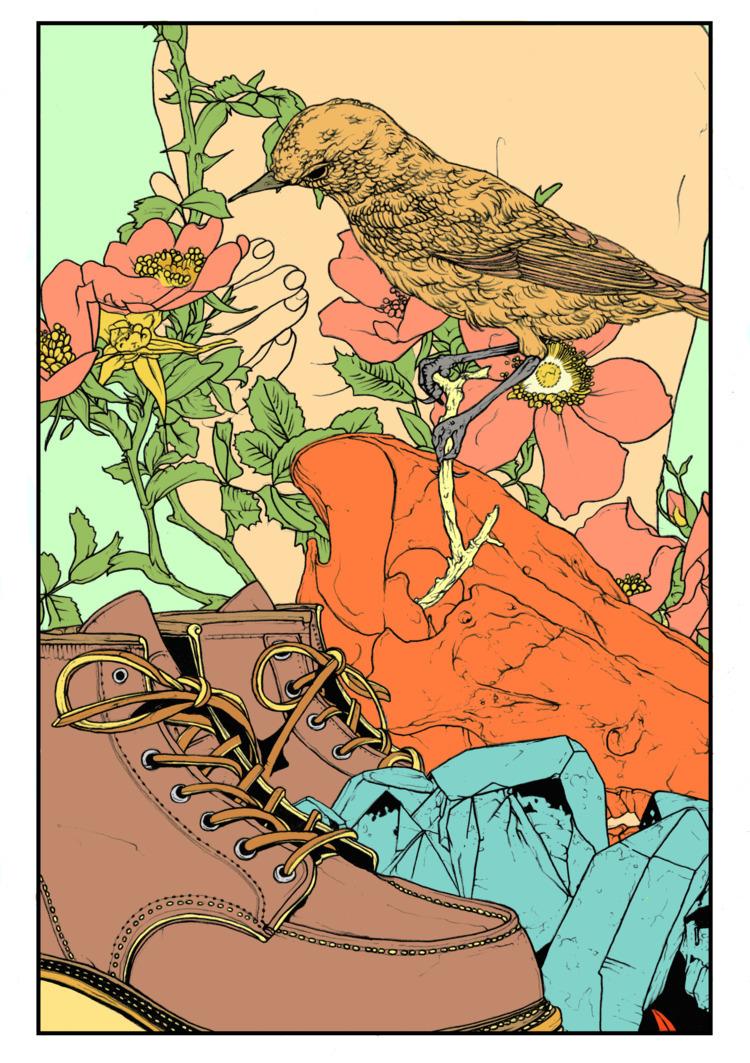 Fiz essa ilustração em setembro - dcvfhvn_art | ello