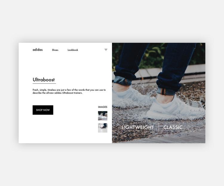 Adidas Ultraboost Landing page  - andikanbassey | ello