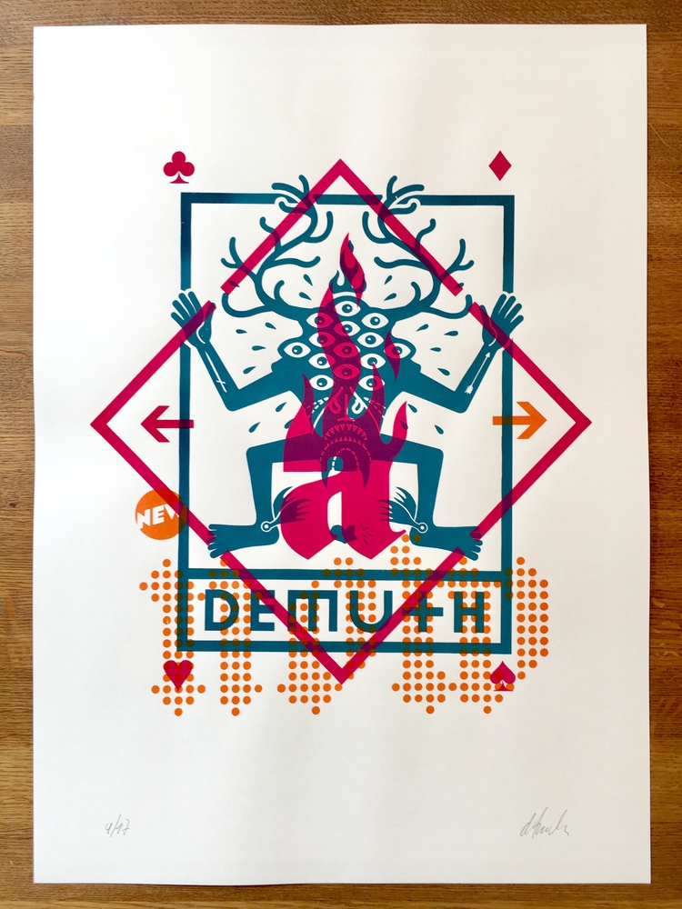 demuth (humility) / screenprint - atzeanalogue | ello