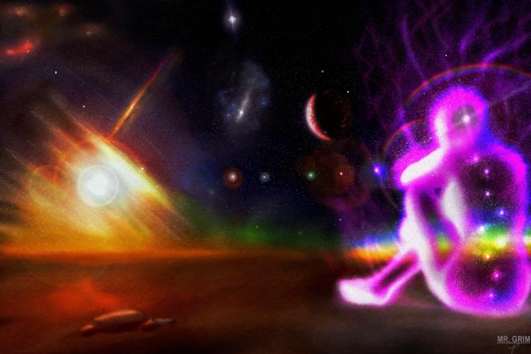 Path Stars Atoms - art, space, spaceart - mistergrim23 | ello