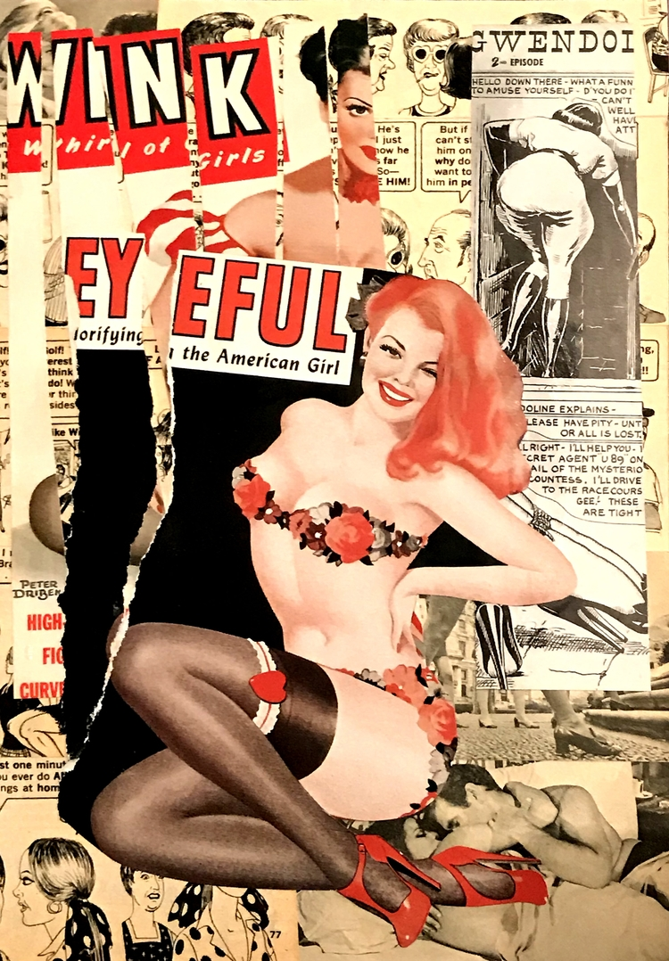 Mad Sexy Collage paper - 28x19c - art-brasseur | ello