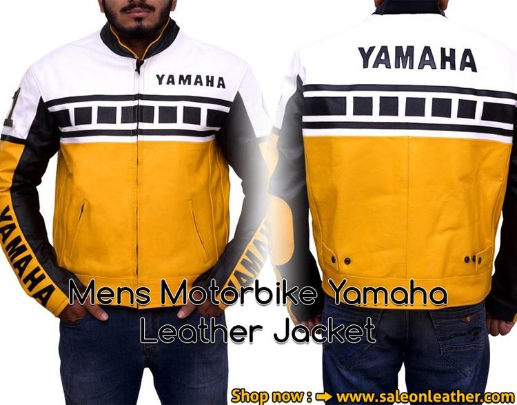 Yamaha Yellow Biker Leather Jac - johnsmith121617 | ello