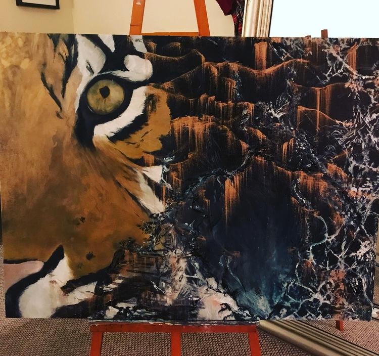 Tiger Dreams 36 48 oil Home Esc - pattyros17 | ello
