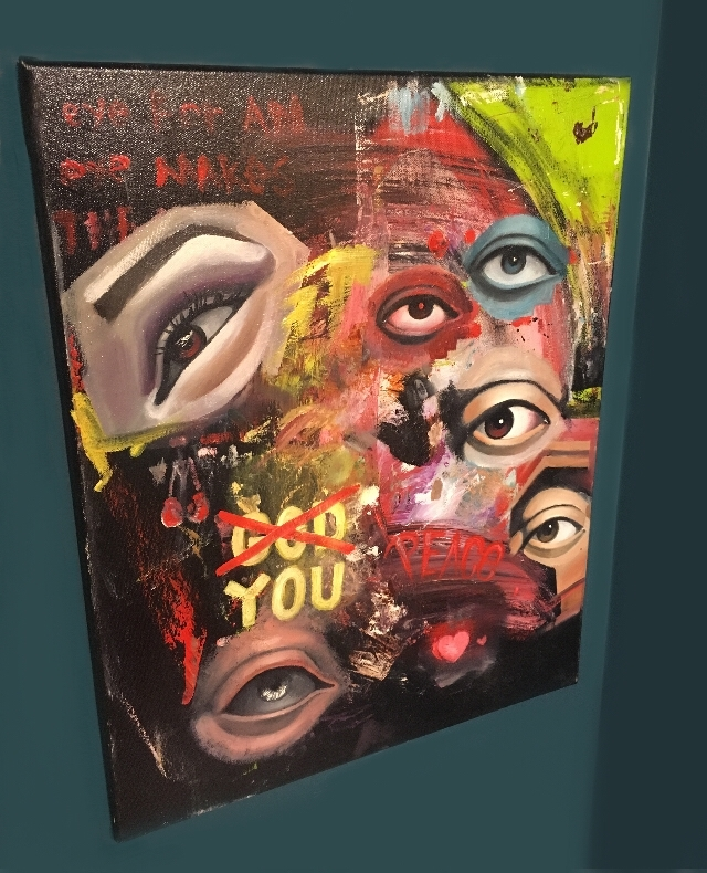 """20in 16in """"God Oil Canvas paint - emiliotheartist 