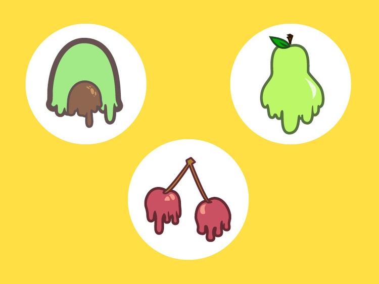 individual - cherry, avocado, pear - tanakajpeg | ello