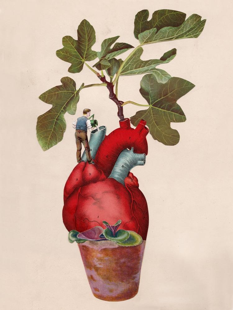 Submission MEURAL: Art Love Tre - papiergedanken-collage-art | ello
