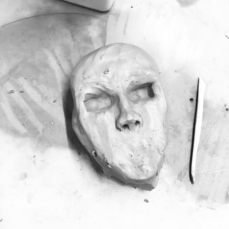 Work progress clay face. cerami - art_tea_me | ello