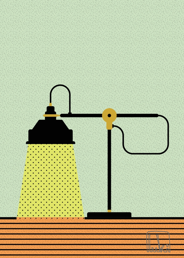 lamp.  - light, vector, art, graphic - _luki | ello