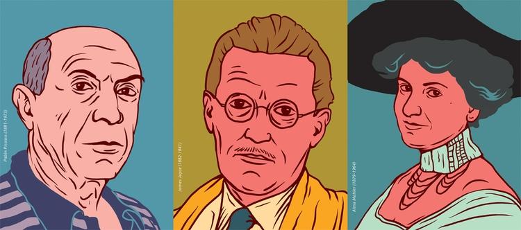 Pablo Picasso, James Joyce, Alm - zsoltvidak | ello