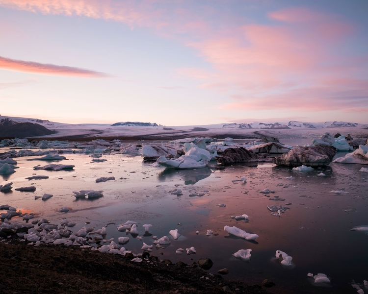 Glacier lagoon sky sunset. Jöku - mickael-tournier | ello
