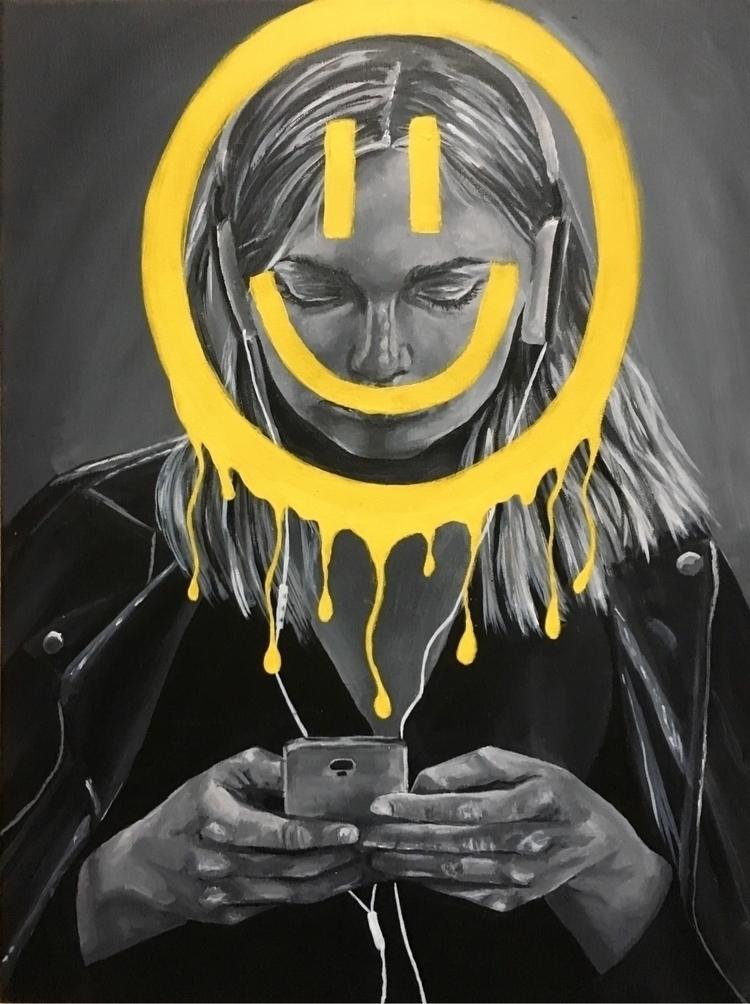 'Ecstatic' acrylic canvas, deve - aoifedillon | ello