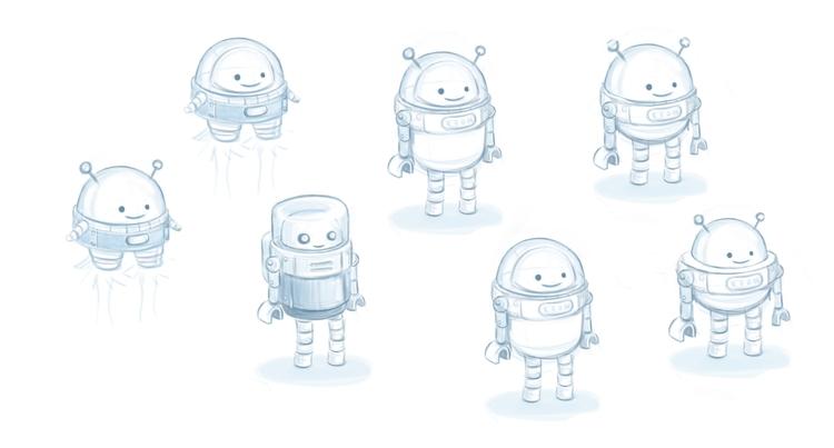 Character sketches AR app - jonny_reid | ello
