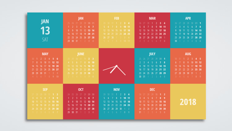 32 CSS CALENDARS Collection fre - freefrontend | ello