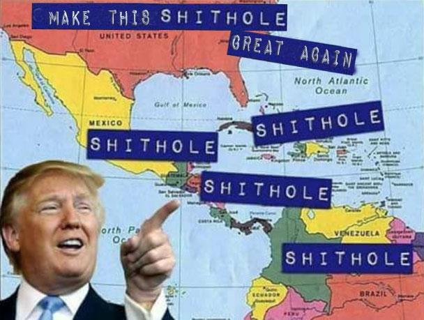 Lo! shithole speaks - POTUS - thefreedomcycle | ello