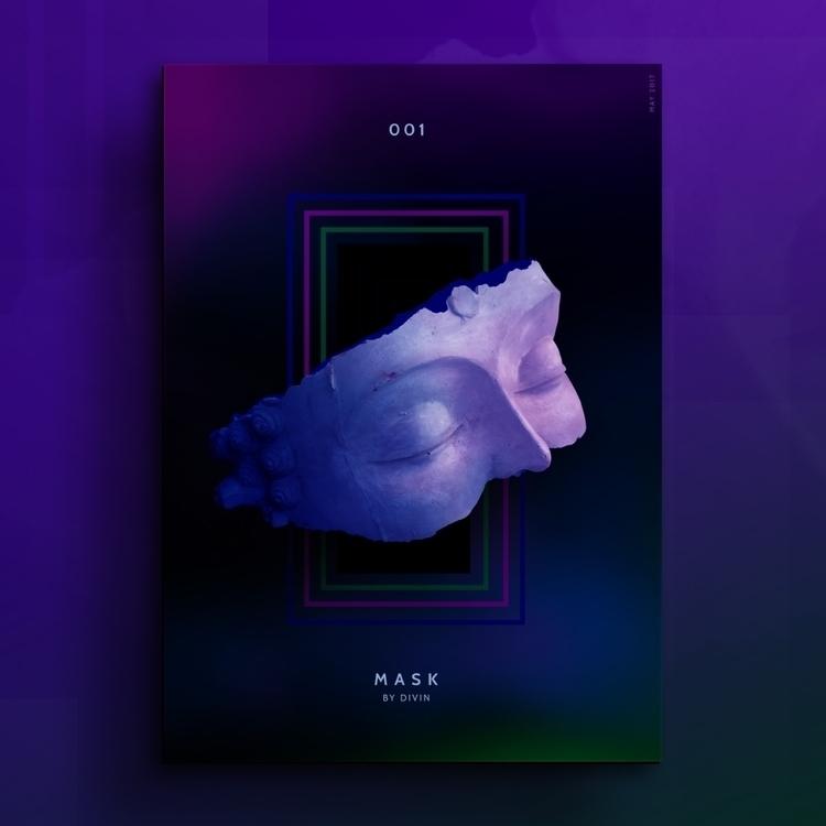 Mask - artwork, close, eyes, concept - divincreador | ello