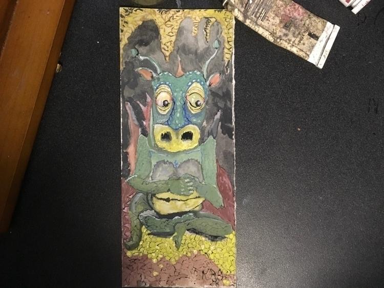 Dragon hoard, gouache ink - krickenwood | ello