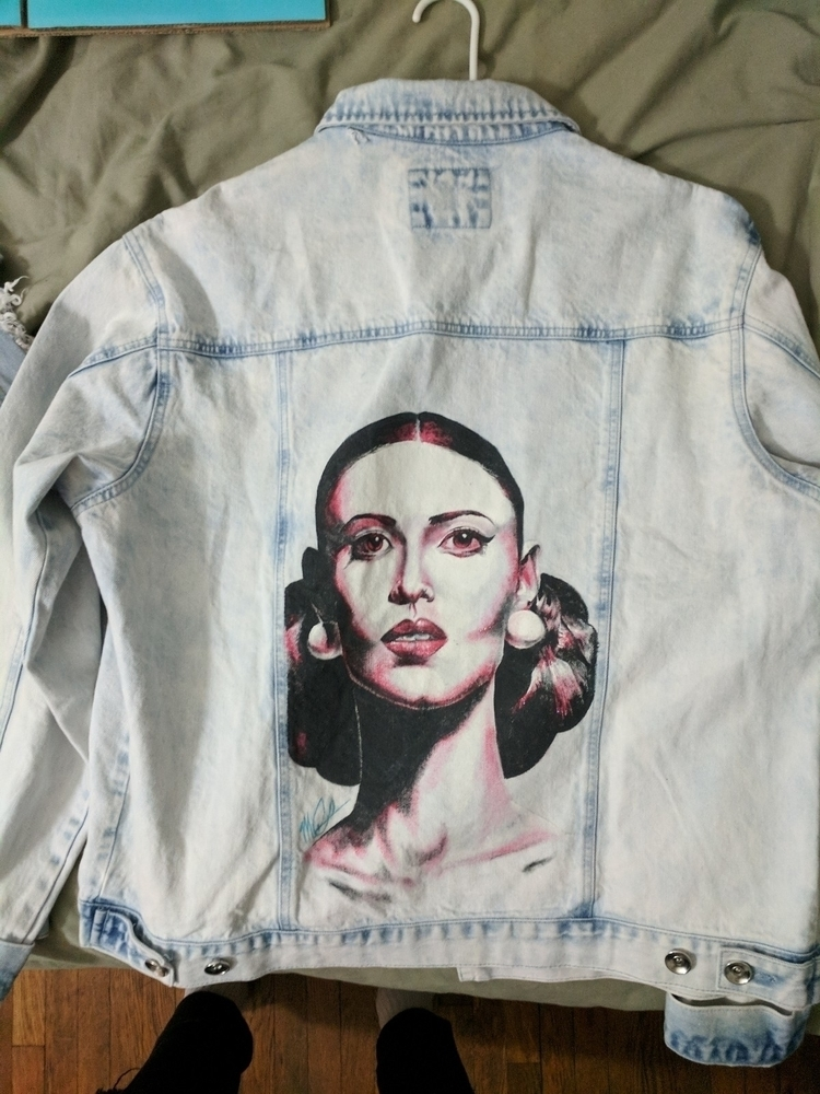 Hand painted denim jacket! $85  - mitchcunha | ello