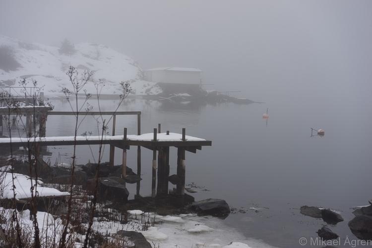 Foggy day Nösund - fogg, winter - mikael_agren_photography   ello
