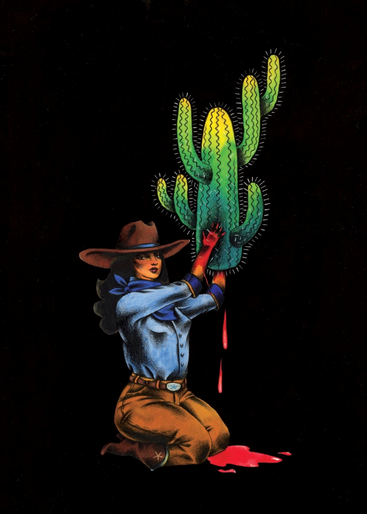 Cactus Sacrifice. Mixed media,  - maggieolson | ello