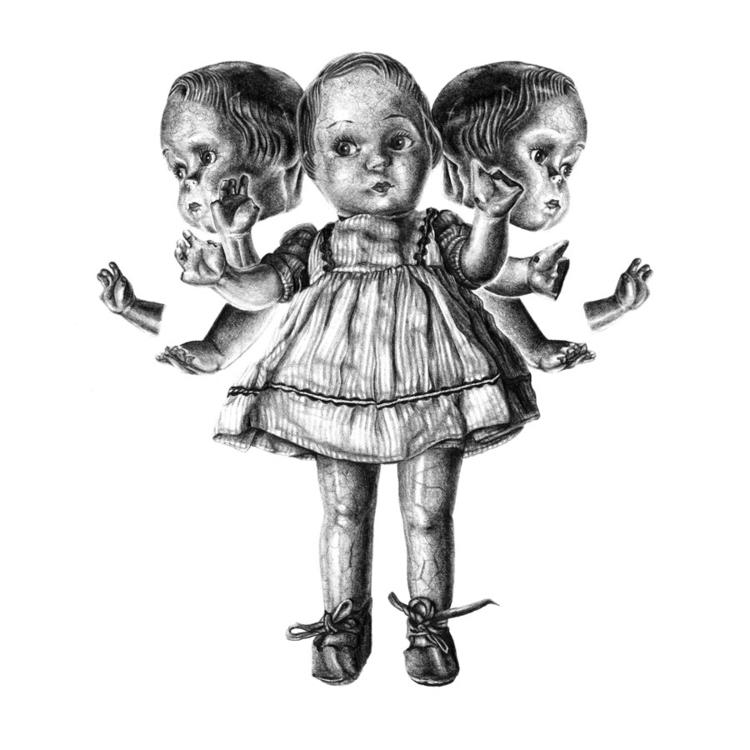 Daughters - Pencil 2017 - illustration - laurahines | ello