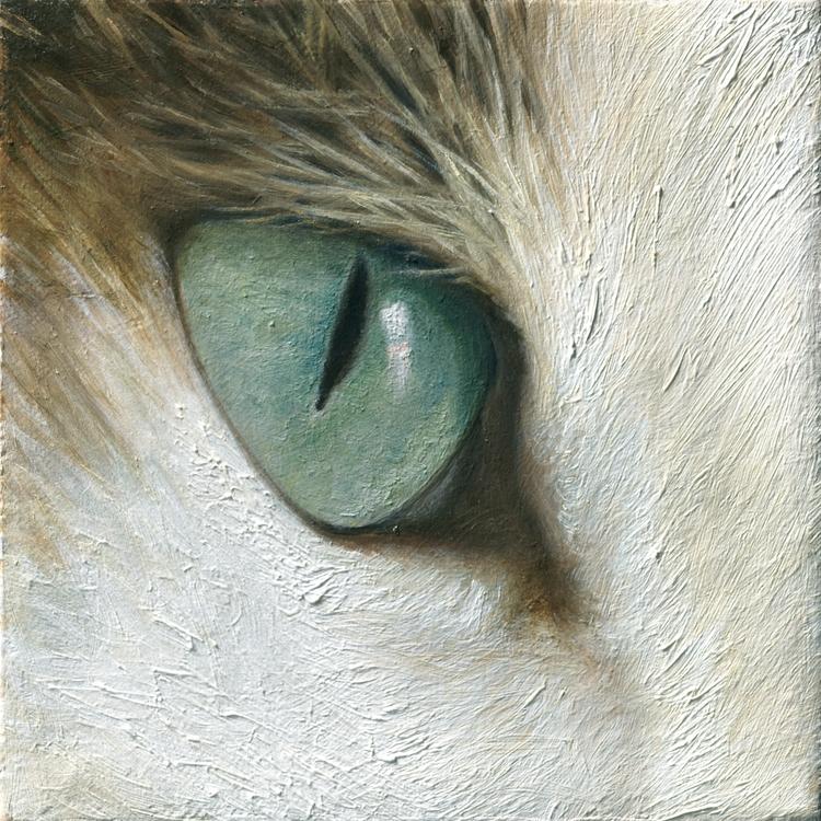 Eye 5x 5 | Oil linen 2015 Abend - aixa_oliveras | ello