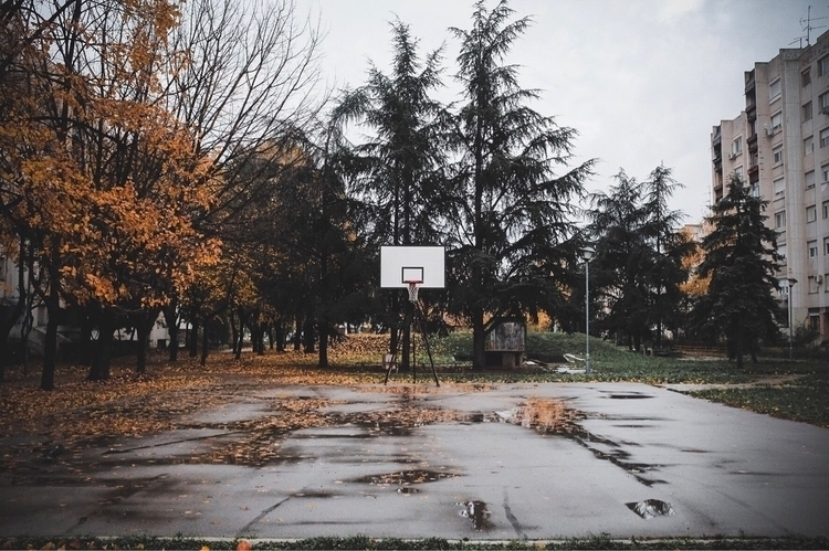 winter, empty, basketball, court - talexic | ello