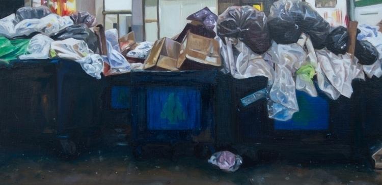 "Dumpsters oil panel 6x12"" 2017 - jodi1234   ello"