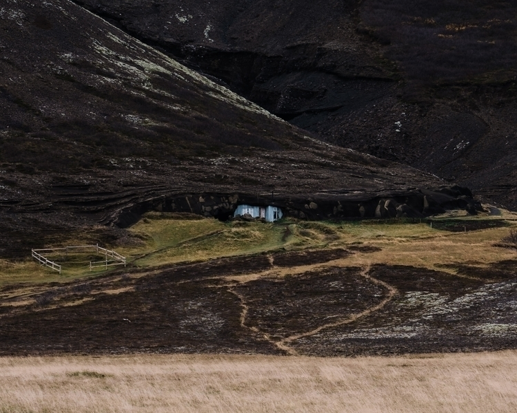 Icelandic house caught lava. Þi - mickael-tournier | ello