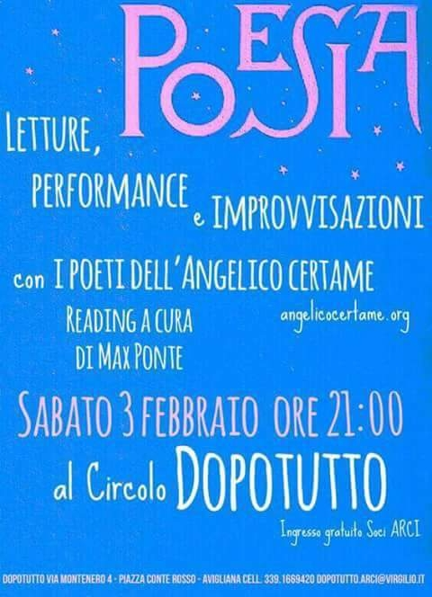 POETRY? event organized Max Pon - enrica-merlo-is-a-blogger | ello