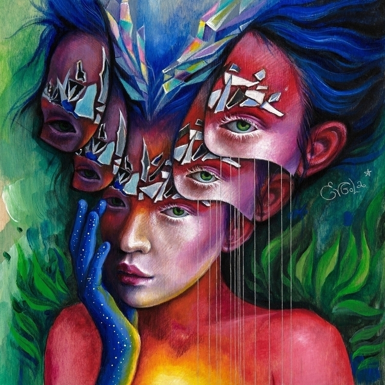 Broken glass melody. Acrylic, c - evgola | ello