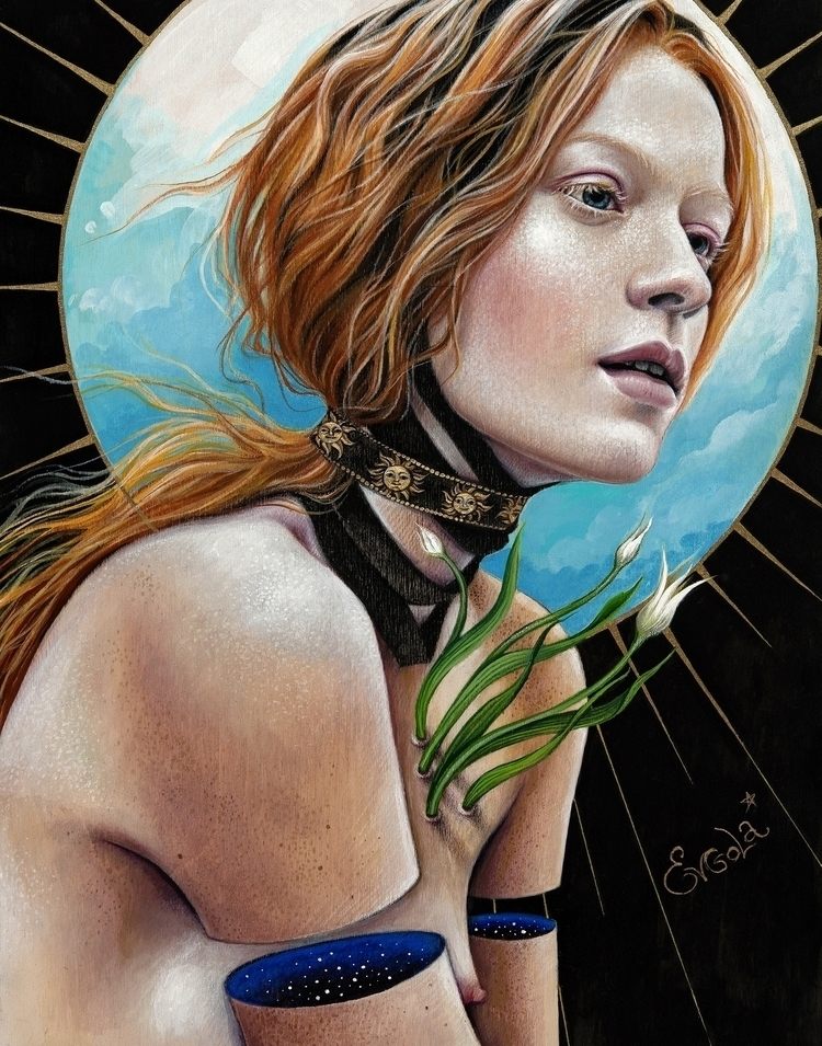 """Venus"" Acrylic, colored pencil - evgola | ello"