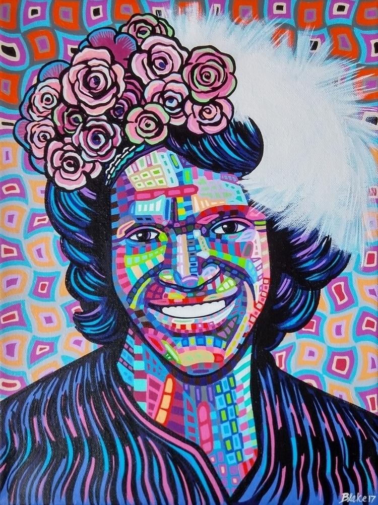 Marsha Johnson / 12 16 acrylic  - blakechamberlain | ello