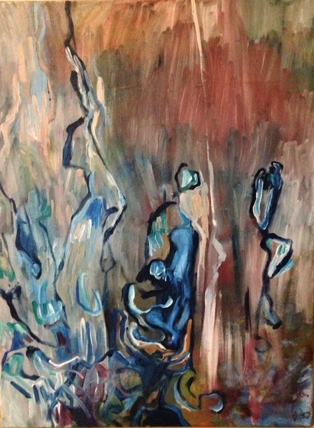 Hidden oil canvas, 18x24 - chiarascuro | ello