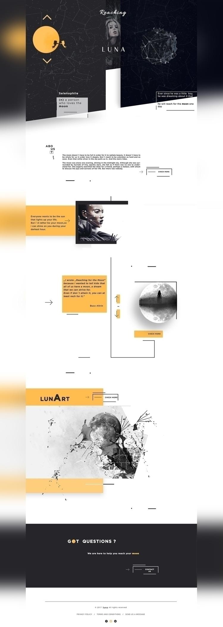luna, web, design, ui, ux, ui/ux - moonya91 | ello