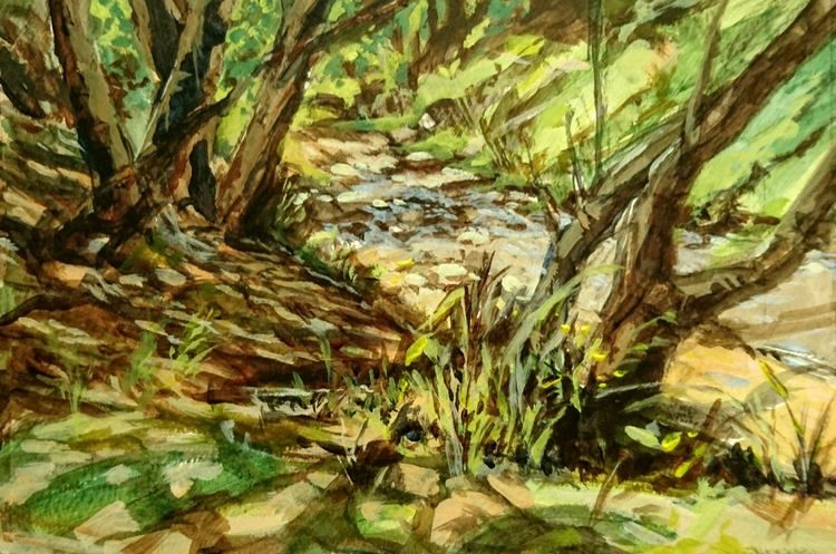 Dappled Stream Acrylic Paper - michaelchomse | ello