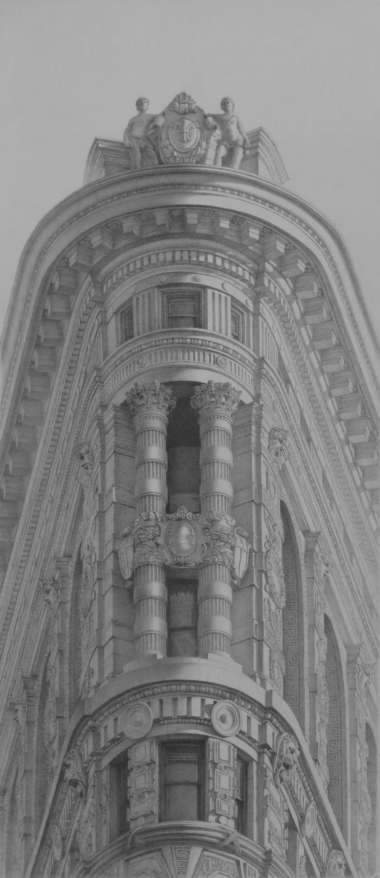 Flatiron building. NYC. Pencil  - anzhelikadoliba | ello