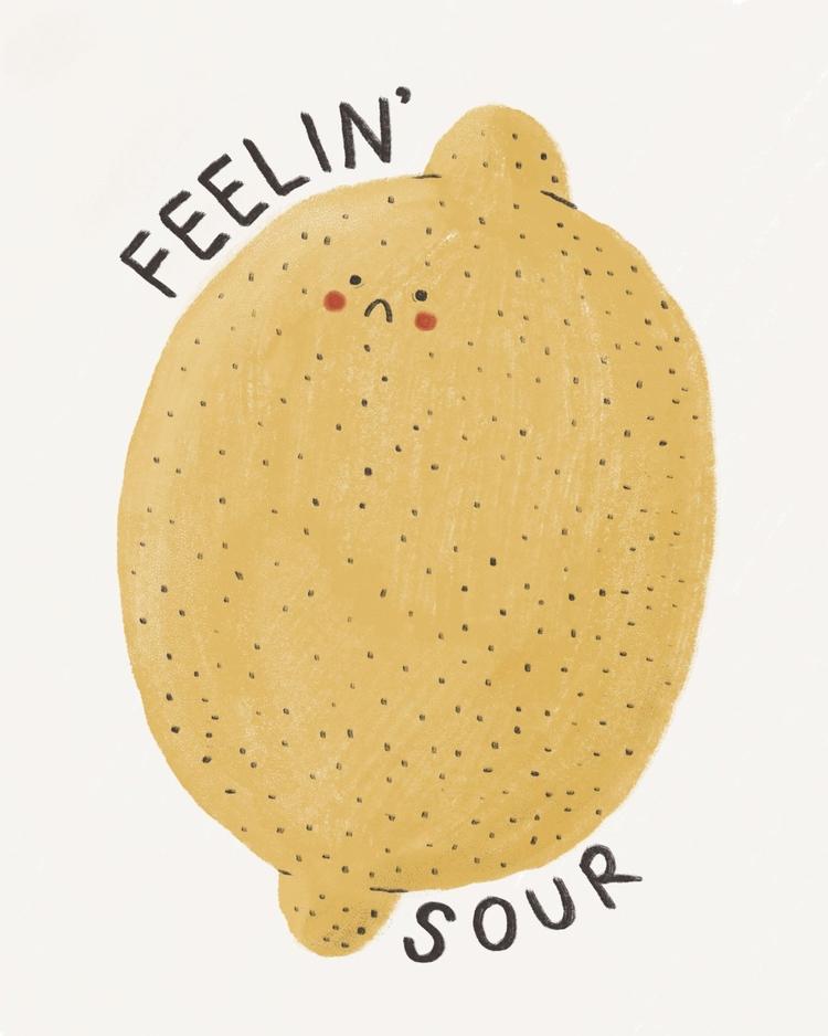 feelin' sour - illustration, digitalillustration - tesslucia | ello