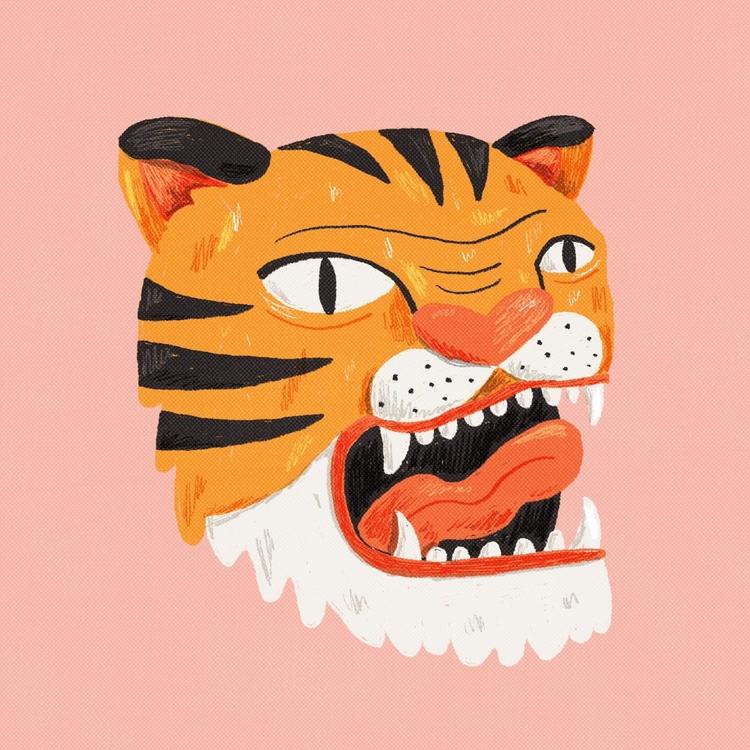 tiger - illustration, digitalillustration - tesslucia | ello