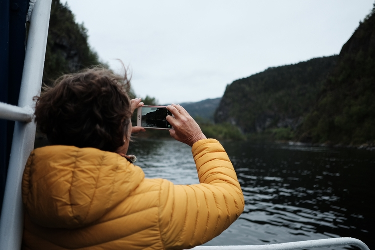 thinking Bergen freezing fjord  - linedupzeroes | ello